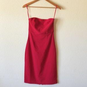 EXPRESS Stretch Sexy Red Strapless Dress 3/4